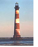 Morris Island Lighthouse viewed from Folly Beach, SC